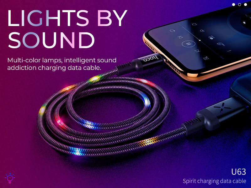 hoco news u63 spirit charging data cable banner en