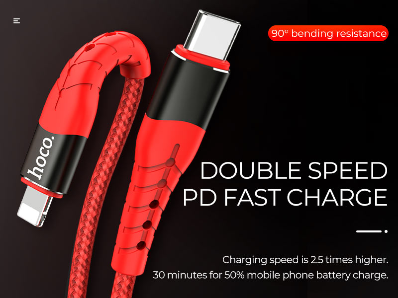 hoco news u64 superior pd charging cable banner en