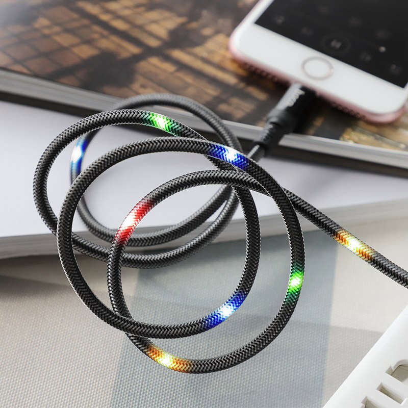 hoco u63 spirit charging data cable for lightning disco