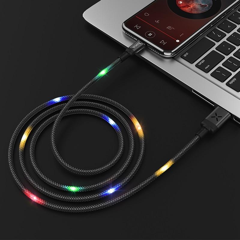 hoco u63 spirit зарядный дата кабель для type c интерьер черный