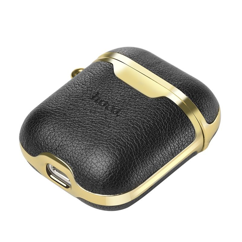 hoco wb11 airpods12 luxuriant leather case port