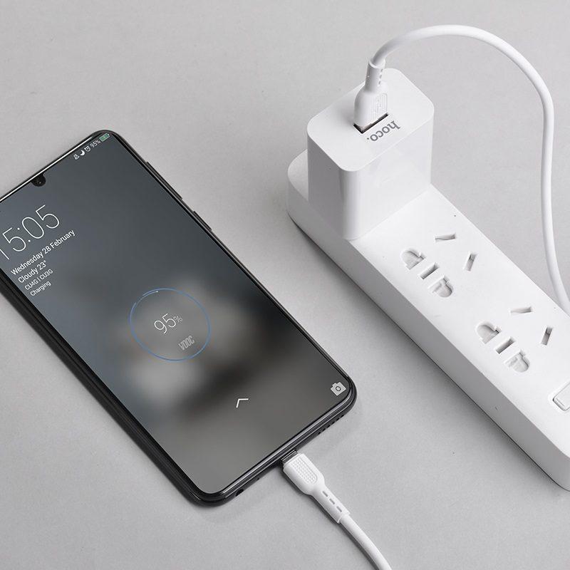 hoco x33 4a surge micro usb flash charging data cable interior white