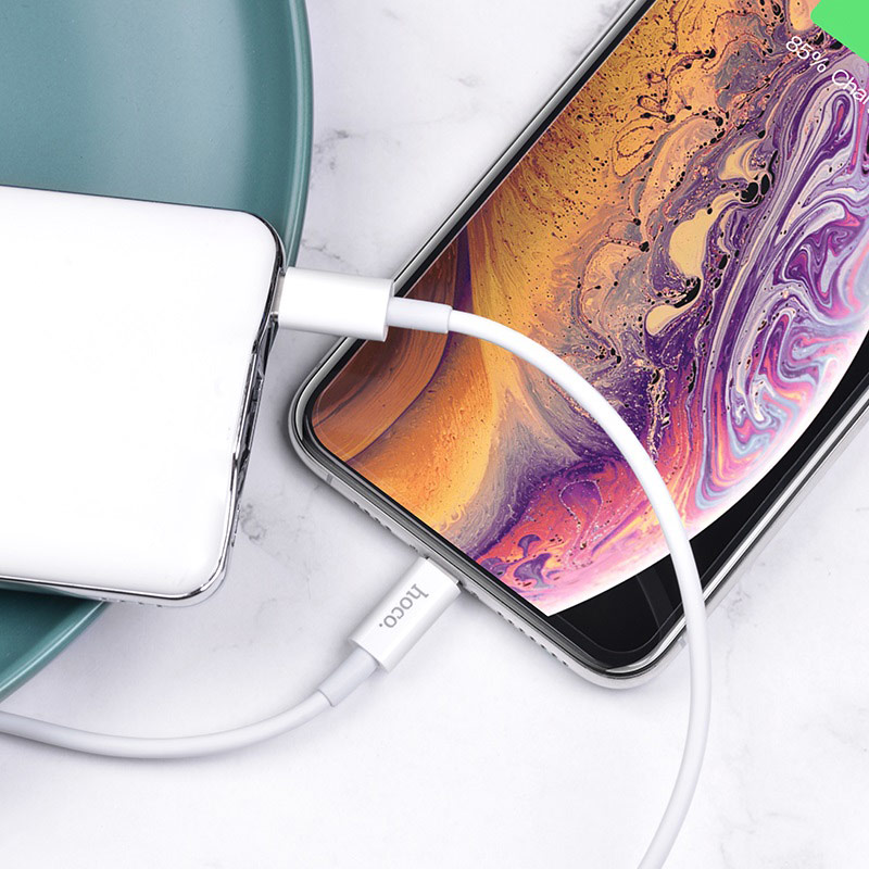 hoco x36 swift pd charging data cable lightning charge