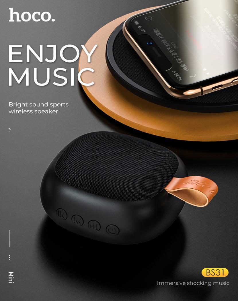 hoco news bs31 bright sound sports wireless speaker music en