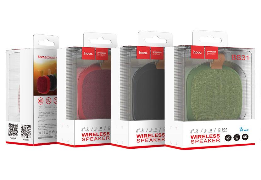 hoco news bs31 bright sound sports wireless speaker package