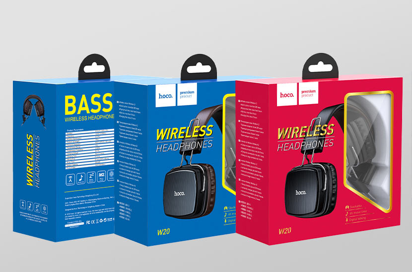 hoco news w20 gleeful wireless headphones packages