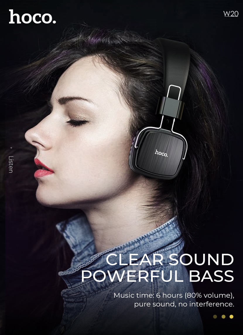 hoco news w20 gleeful wireless headphones sound en