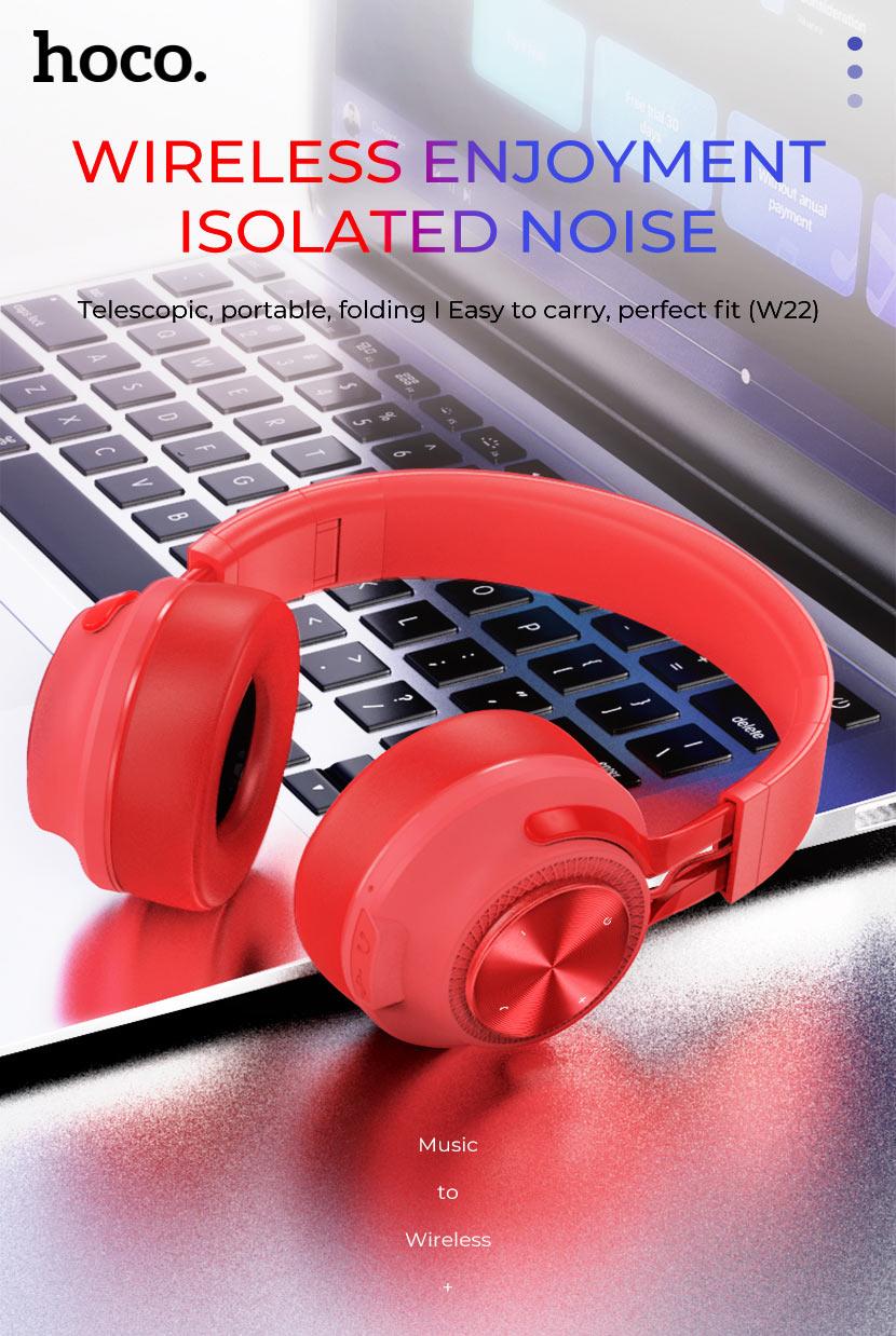 hoco news w22 talent sound wireless headphones main en