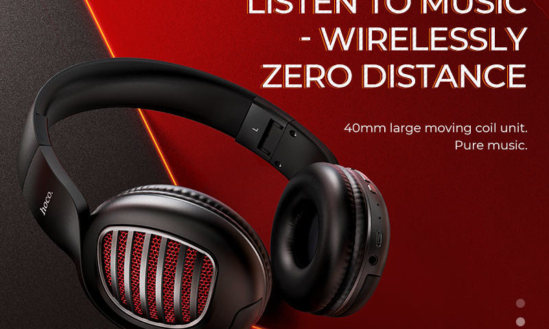 hoco news w23 brilliant sound wireless headphones banner en