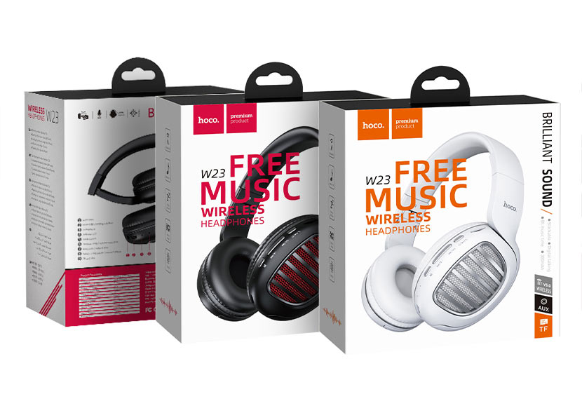 hoco news w23 brilliant sound wireless headphones packages
