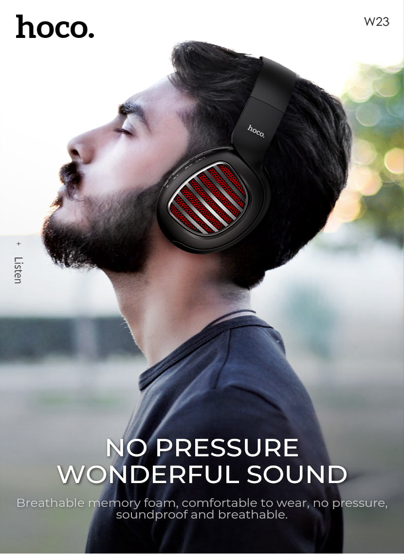 hoco news w23 brilliant sound wireless headphones sound en