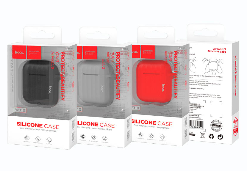 hoco news wb10 airpods 1 2 silicone case packages