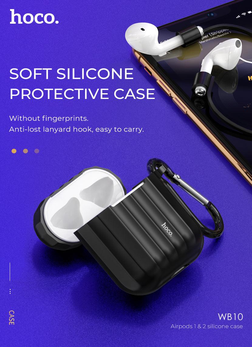 hoco news wb10 airpods 1 2 silicone case silicone en