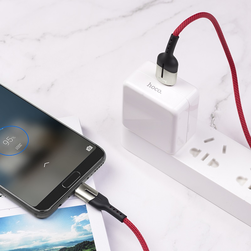 hoco u68 4a gusto flash charging data cable for micro usb charge