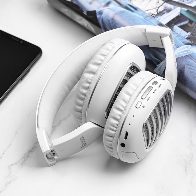 hoco w23 brilliant sound wireless headphones folded