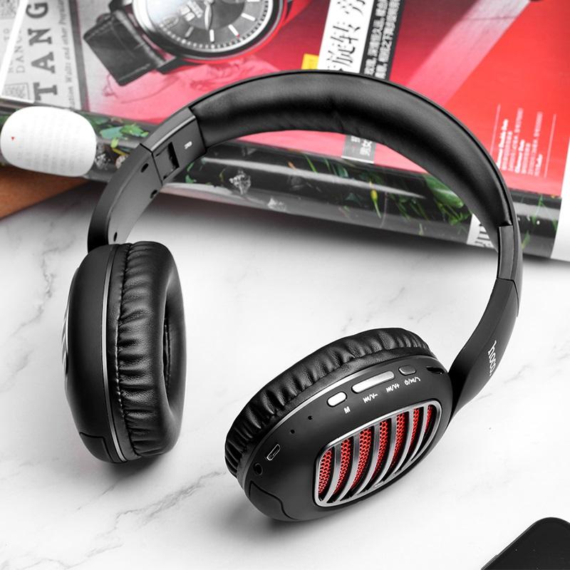 hoco w23 brilliant sound wireless headphones interior