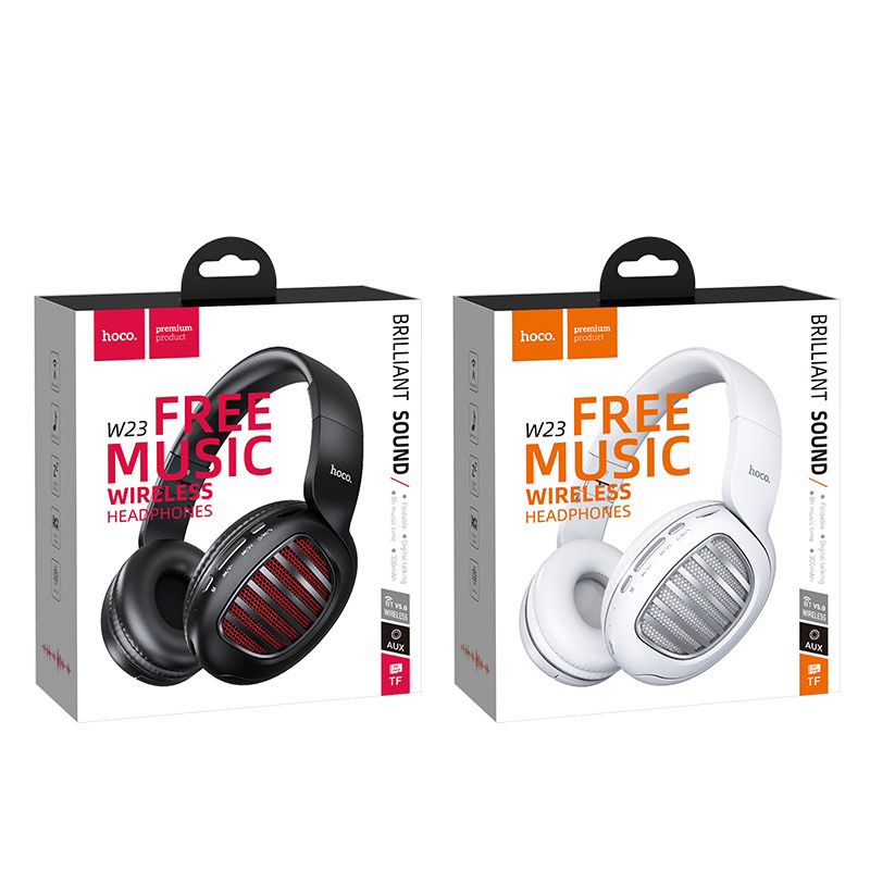 hoco w23 brilliant sound wireless headphones packages