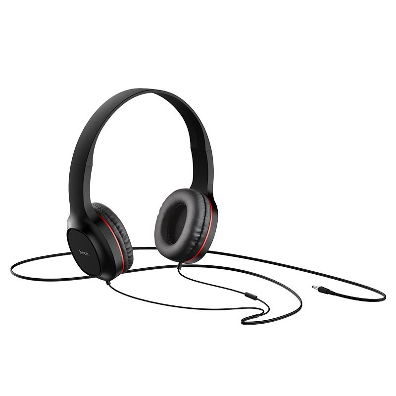 hoco w24 enlighten headphones with mic set wire