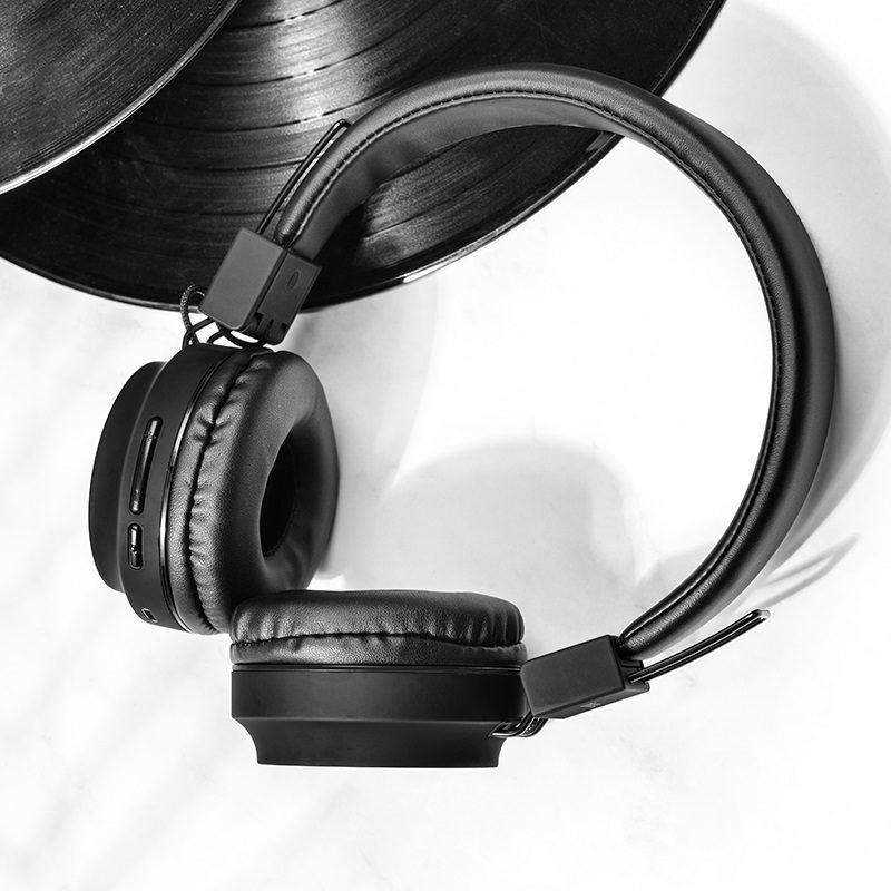 hoco w25 promise wireless headphones interior black