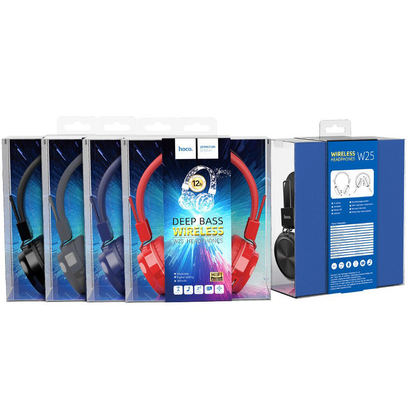 hoco w25 promise wireless headphones packages