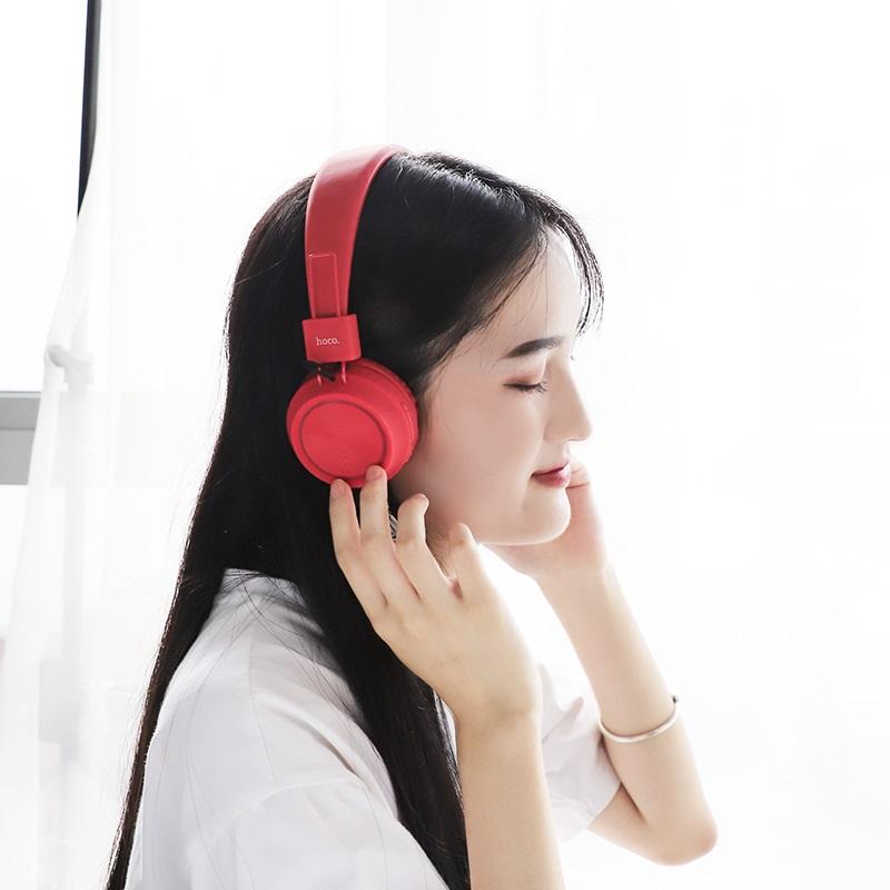 hoco w25 promise wireless headphones women