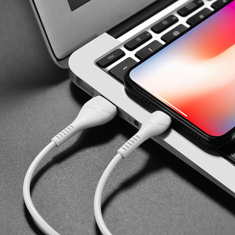 hoco x37 cool power charging data cable for lightning overview
