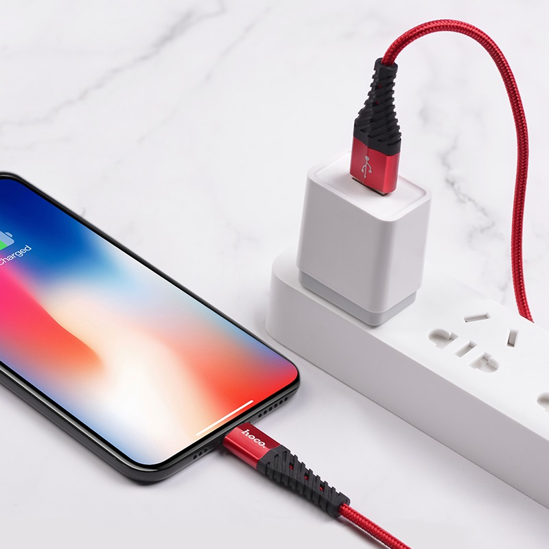 hoco x38 cool charging data cable for lightning charge
