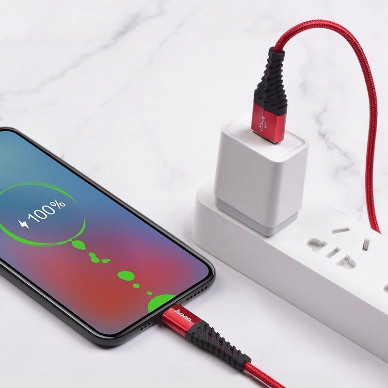 hoco x38 cool charging зарядный дата кабель для micro usb зарядка
