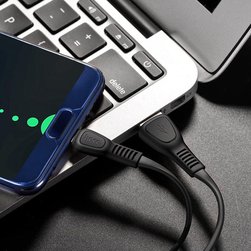hoco x40 noah charging data cable for type c interior black
