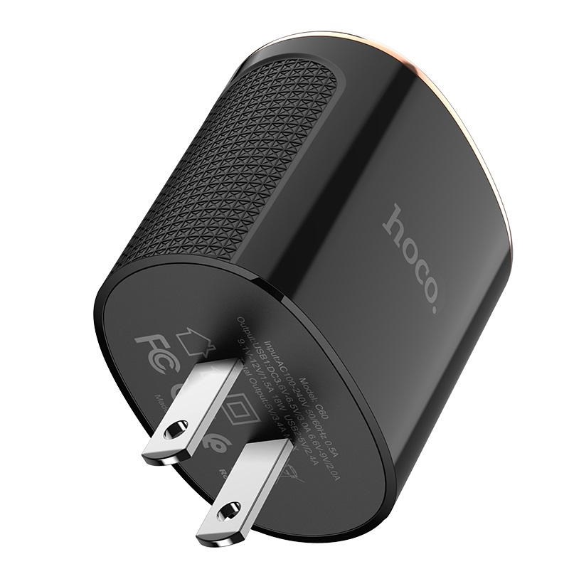 hoco c60 prestige dual port qc30 charger us specs