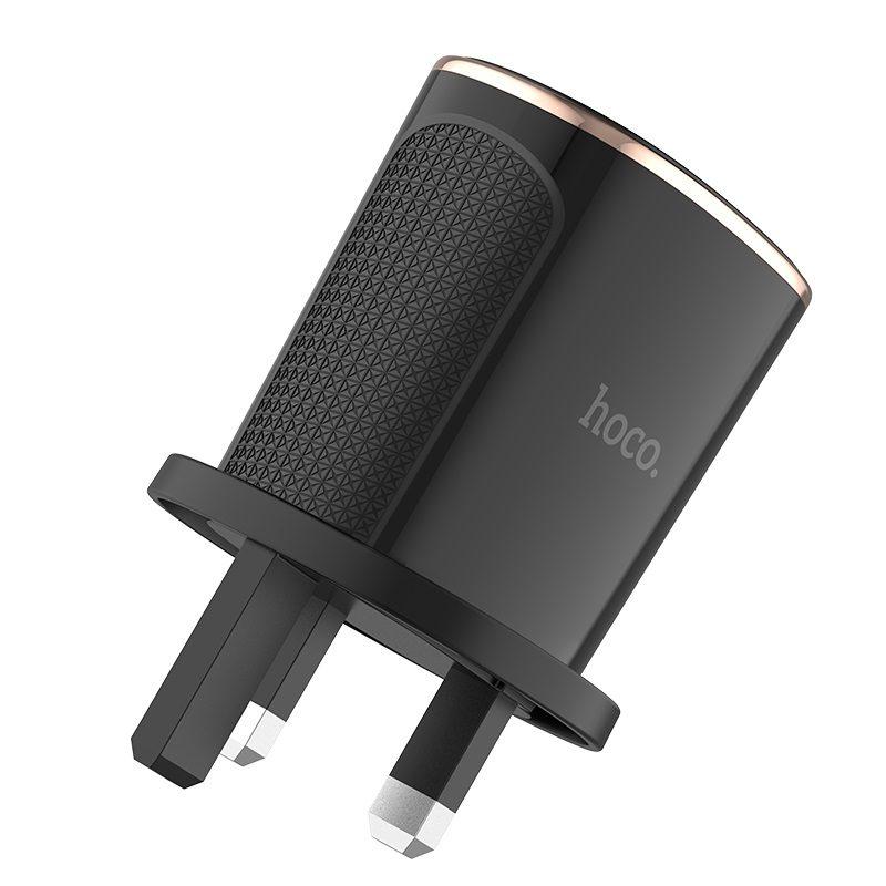 hoco c60b prestige dual port qc30 charger uk pins