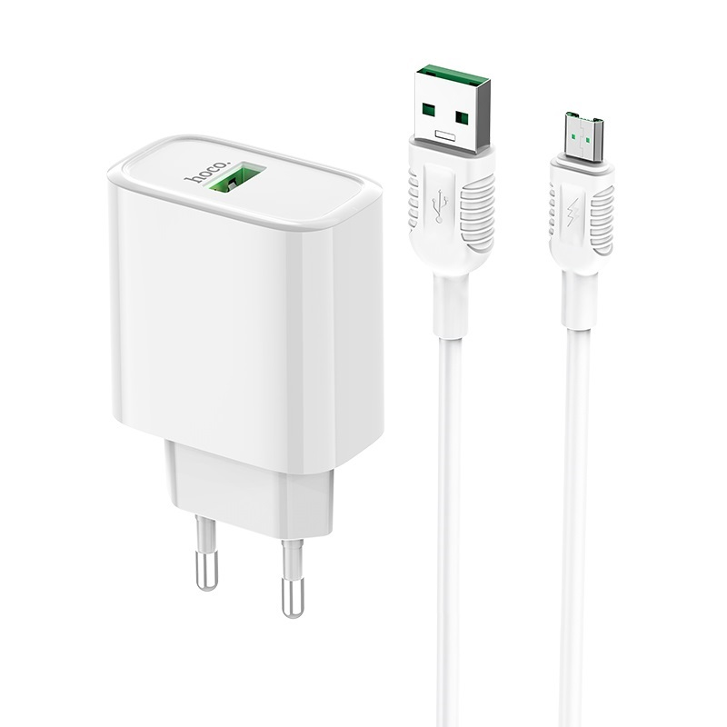 hoco c69a dynamic power fully compatible wall charger eu micro usb set kit