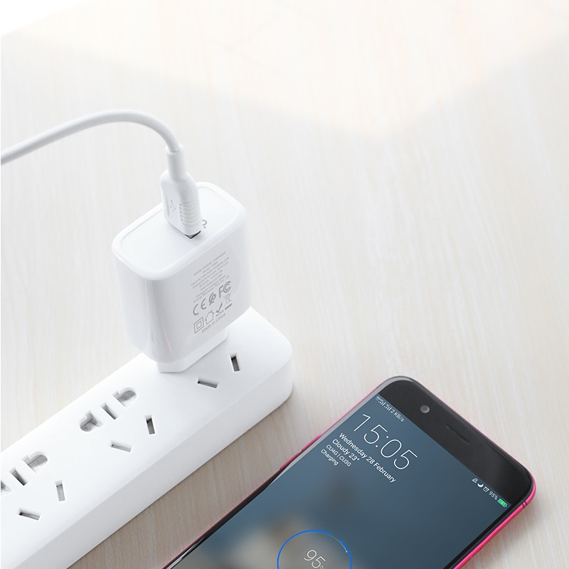hoco c69a dynamic power fully compatible wall charger eu micro usb set phone