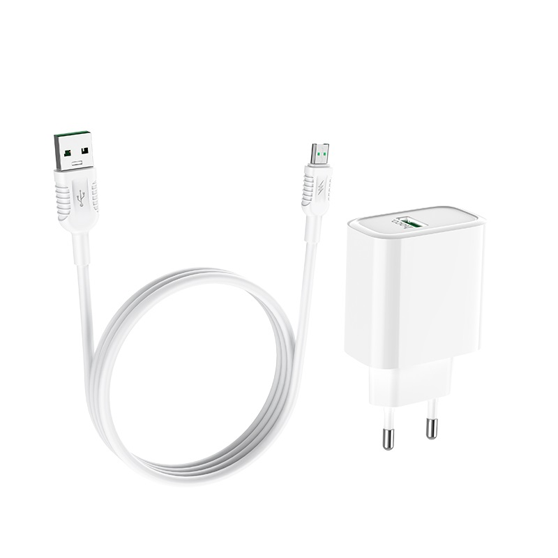 hoco c69a dynamic power fully compatible wall charger eu micro usb set wire