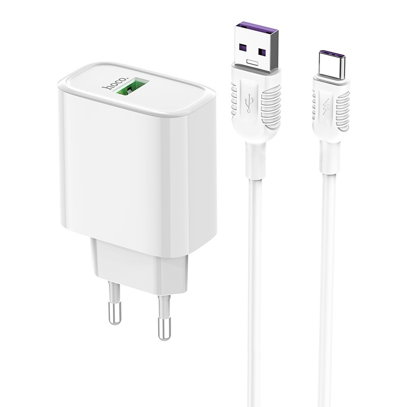 hoco c69a dynamic power fully compatible wall charger eu type c set kit