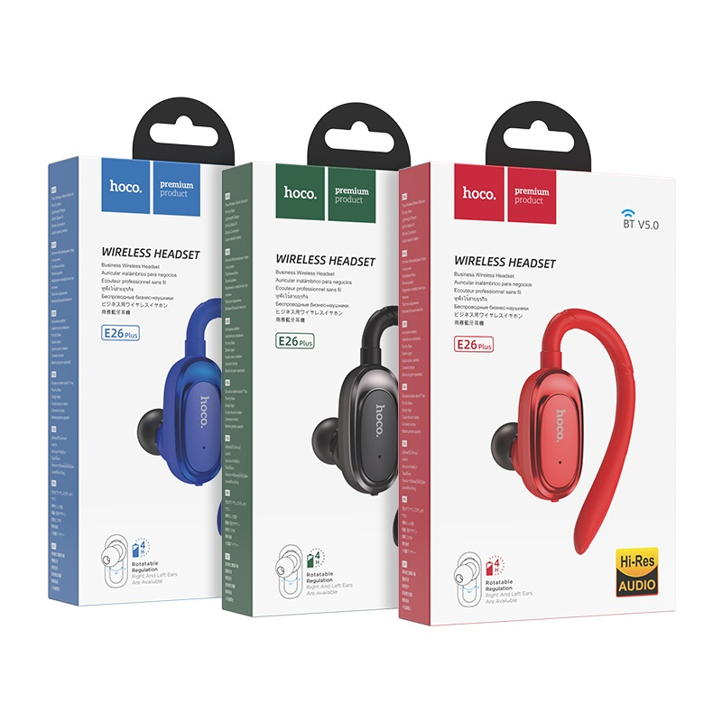 hoco e26 plus encourage wireless headset packages