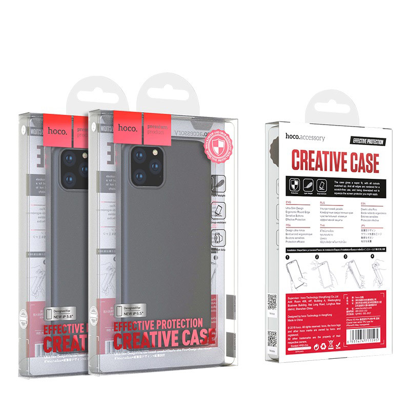 hoco iphone 5.8 6.5 fascination series protective case package