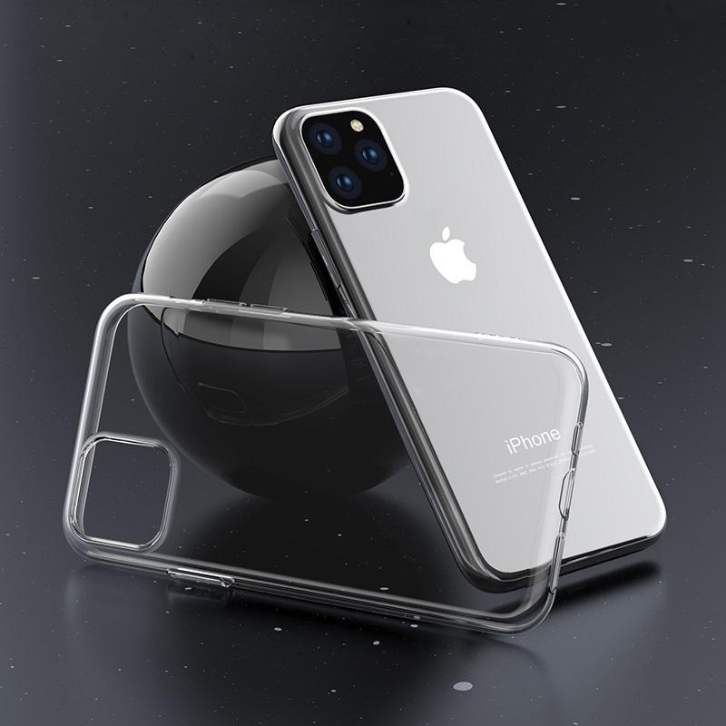hoco iphone 5.8 6.5 light series tpu case interior transparent