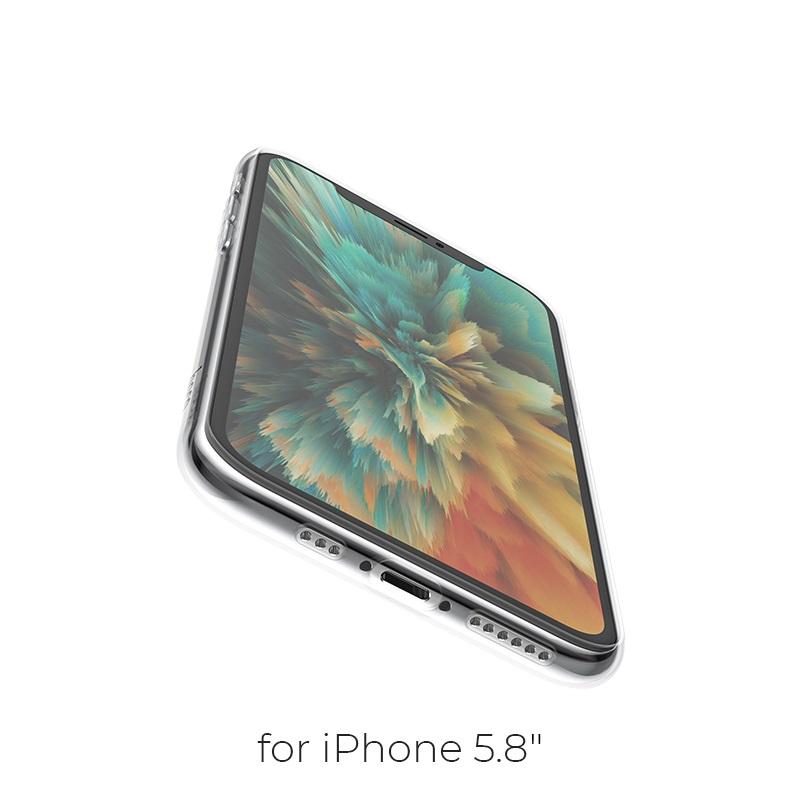 hoco iphone 5.8 light series tpu case holes
