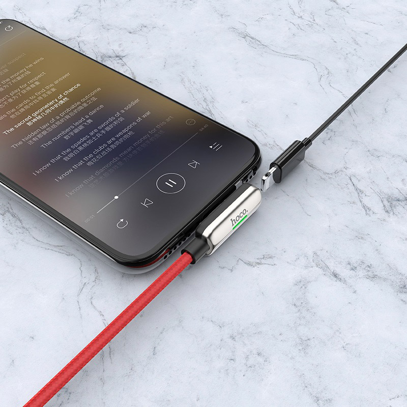 hoco ls28 usb to lightning male lightning female digital audio conversion cable interior