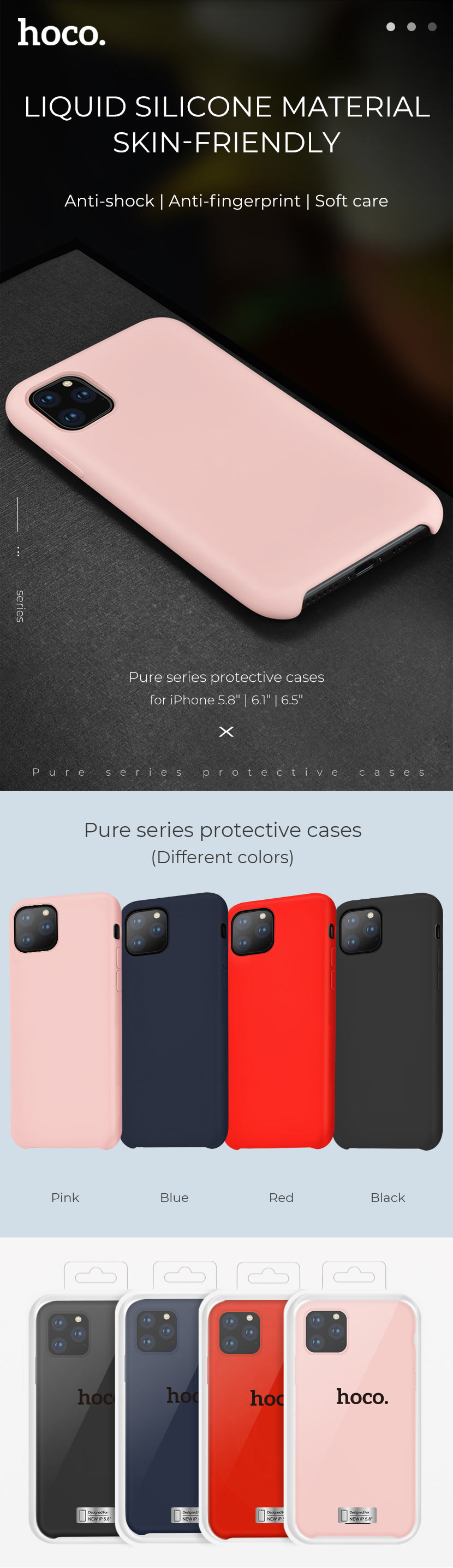 hoco news 2019 iphone case collection pure series en