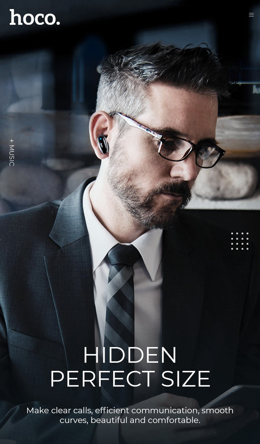hoco news e46 voice business wireless headset size en