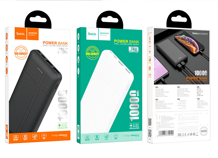 hoco news j48 nimble mobile power bank 10000mah package