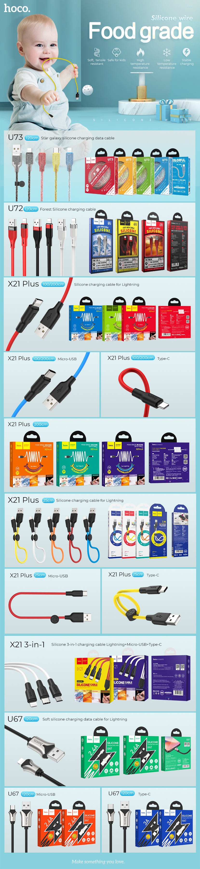 hoco news silicone data cables collection part1 en