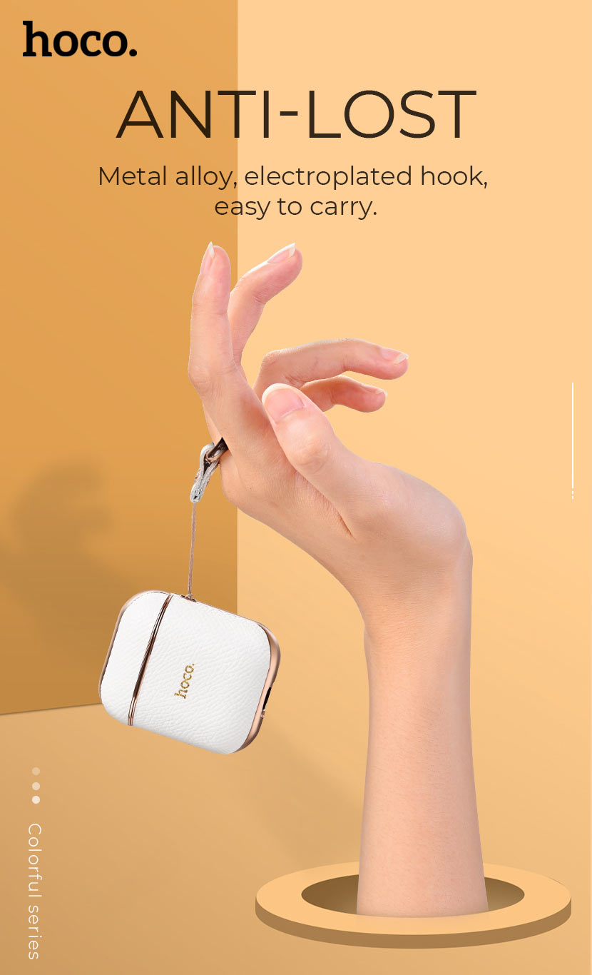 hoco news wb15 enamel series protective case for airpods2 anti lost en