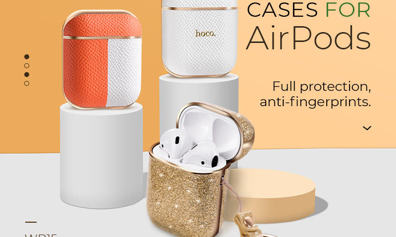 hoco news wb15 enamel series protective case for airpods2 banner en