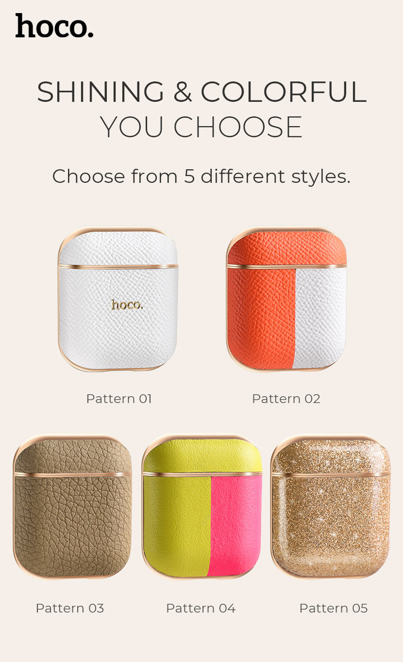 hoco news wb15 enamel series protective case for airpods2 colorful en