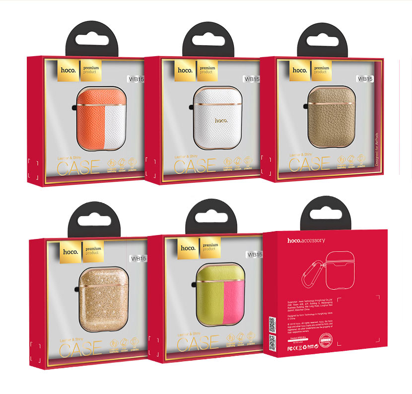 hoco news wb15 enamel series protective case for airpods2 packages