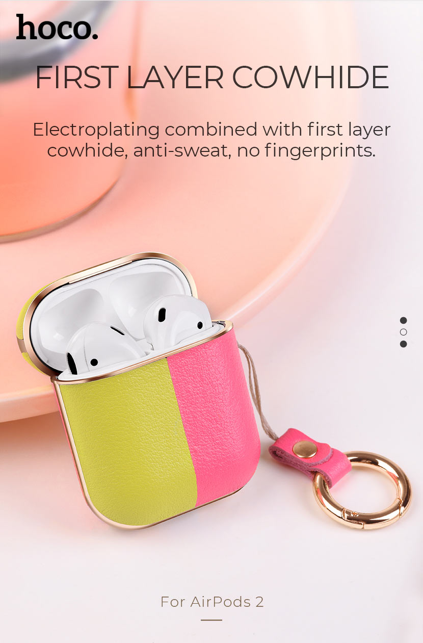 hoco news wb15 enamel series protective case for airpods2 plating en