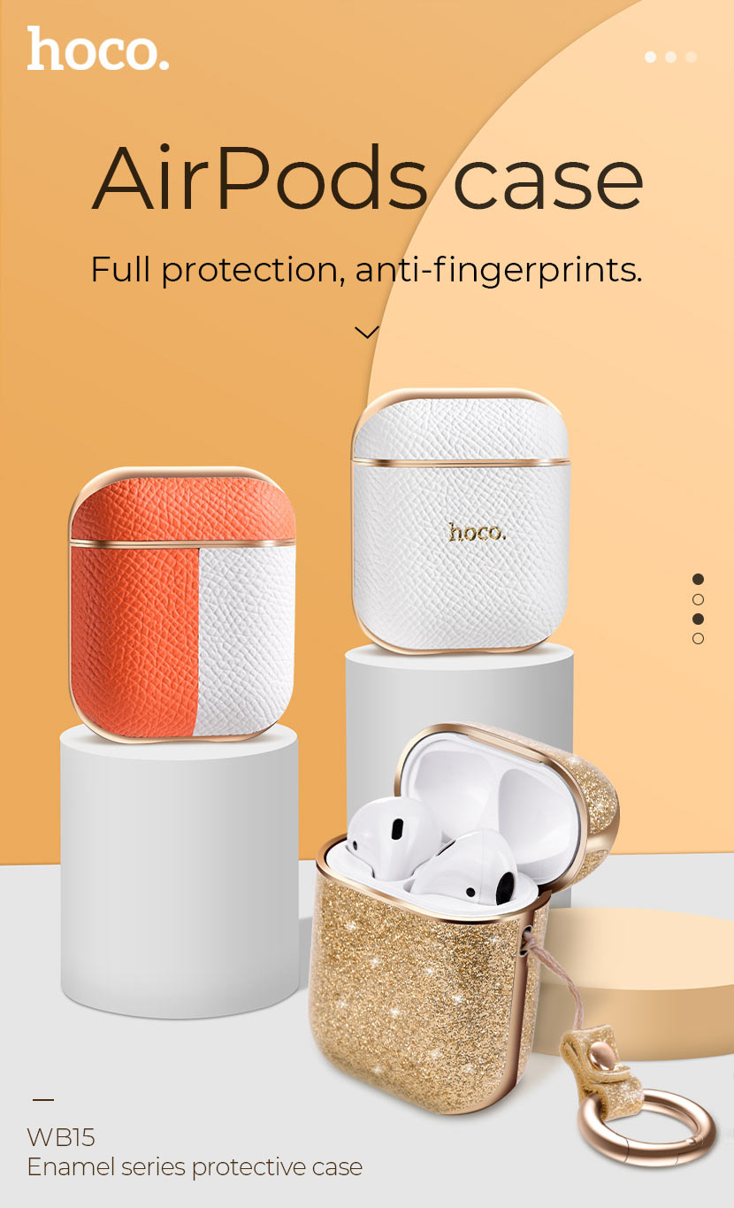 hoco news wb15 enamel series protective case for airpods2 protection en